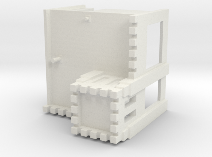 HO-Scale White Tower 3d printed