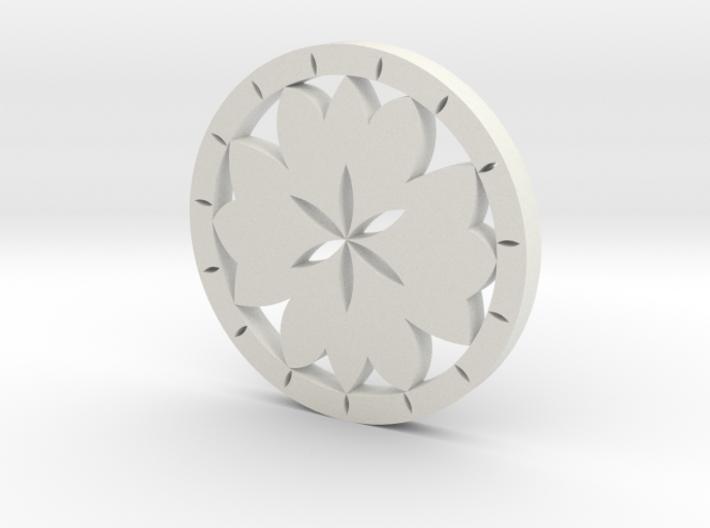 Lotus earring 3d printed