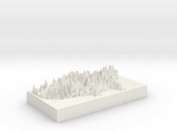 Election 2016 Map 3d printed