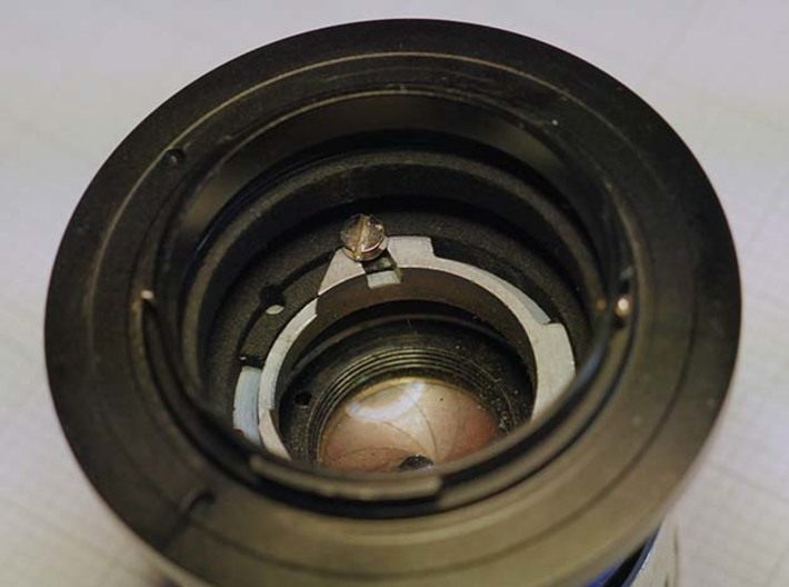 """Argus  """"The Brick"""" lens adapter to Leica L39 3d printed rear view"""