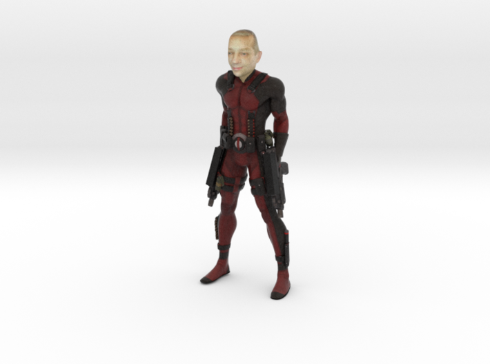Deadpool with your face 100mm 3d printed
