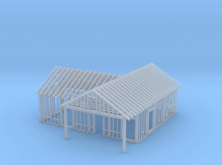 Framed House N Scale 1-160 3d printed