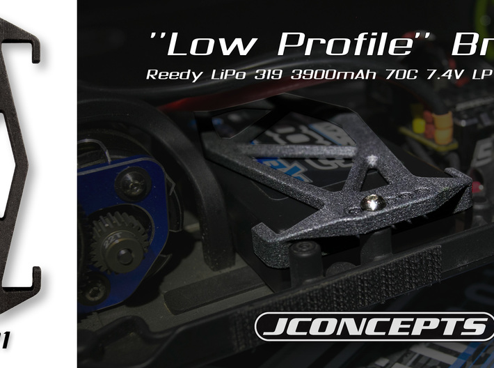 2621 - B6 COMPACT BATTERY HOLDER Reedy LP Shorty 3d printed