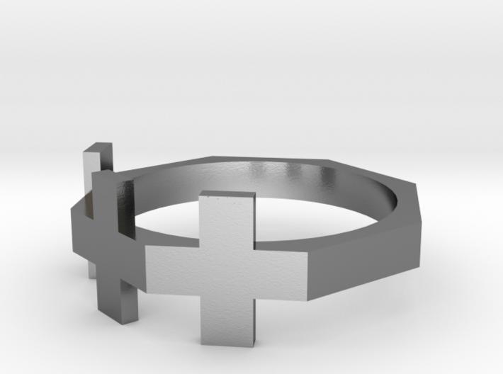 Triple Plus Ring 3d printed