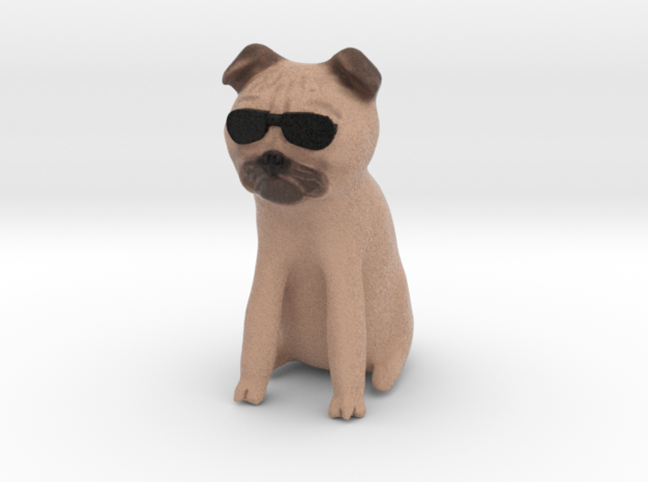 Cool Pug 3d printed