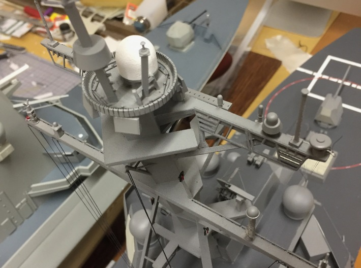 1/72 scale Burke Mast Details 3d printed