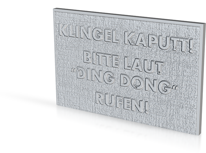 """Name Plate """"Ding Dong"""" 3d printed"""