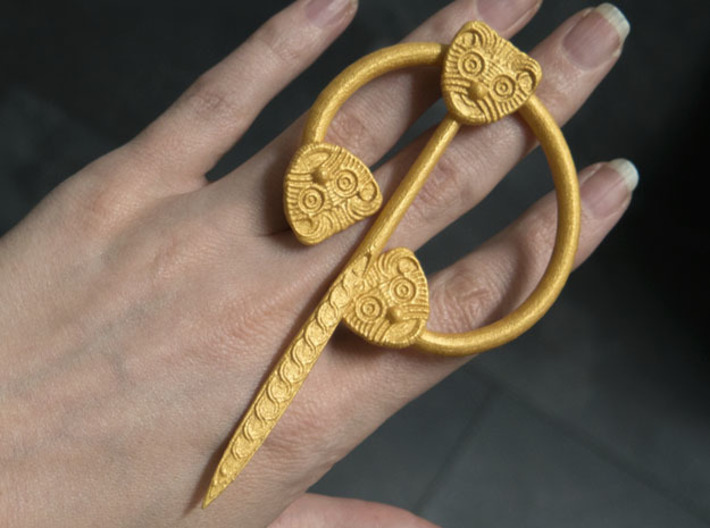 Viking Ring Needle 1 L 3d printed With Metallic paint