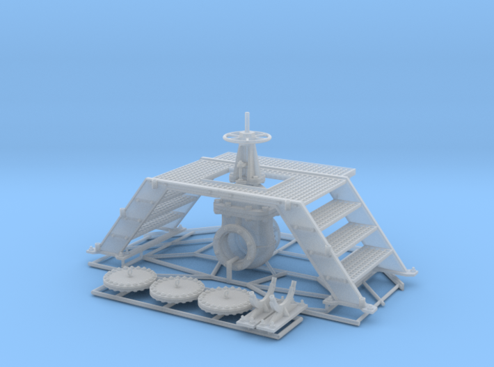 Pipeline Valve + Service Bridge + Covers 3d printed