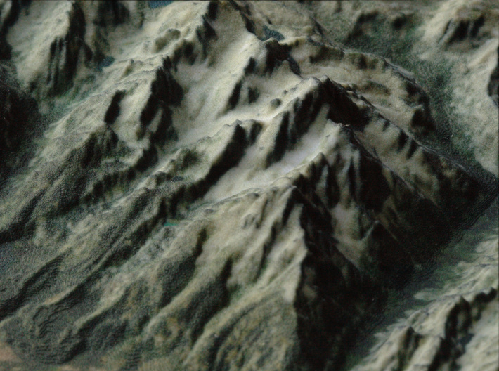 Grand Tetons, Wyoming, USA, 1:100000 Explorer 3d printed Close-up of the Cathedral Group