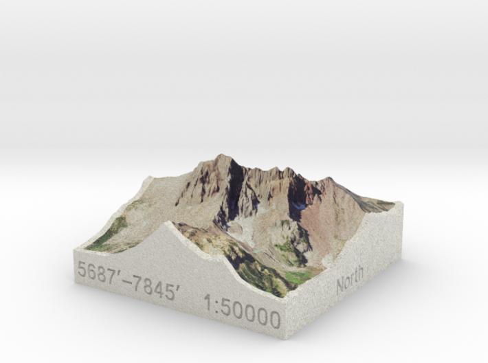 Three Fingered Jack, Oregon, USA, 1:50000 3d printed