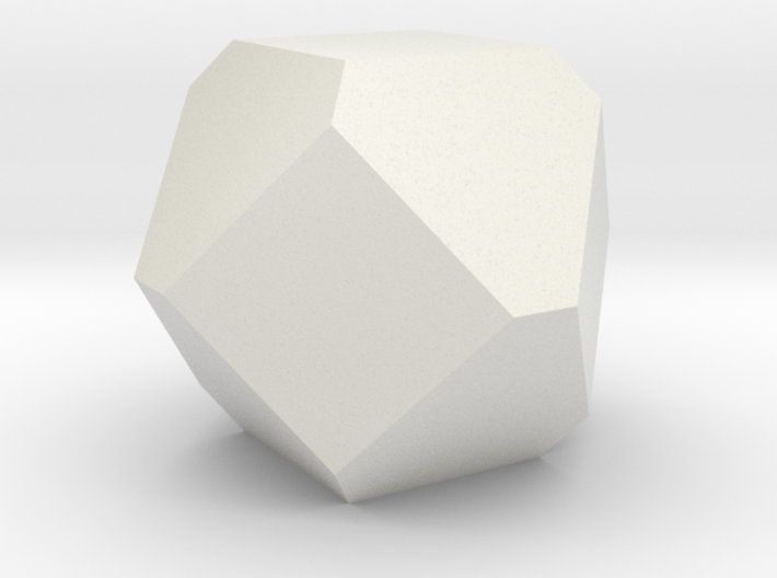 Cuboctohedral Fourteen-sided Die 3d printed