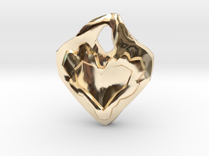 Swerve Heart Pendant 3d printed