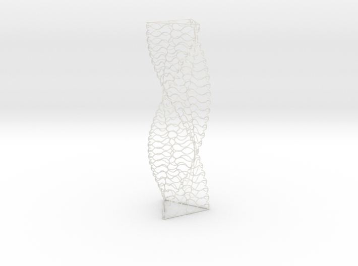 Curved Wire Spiral Triangle Shape L 3d printed