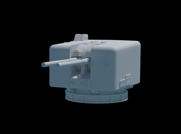 HMAS Duchess 4.5 Mk6 mountings. Early version. 1/9 3d printed Render of assembled model