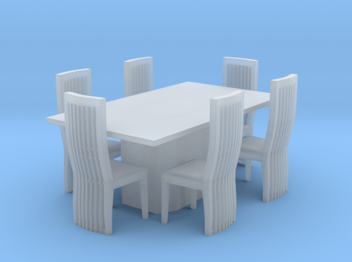 Marble Style Table And Chairs Scaled 3d printed