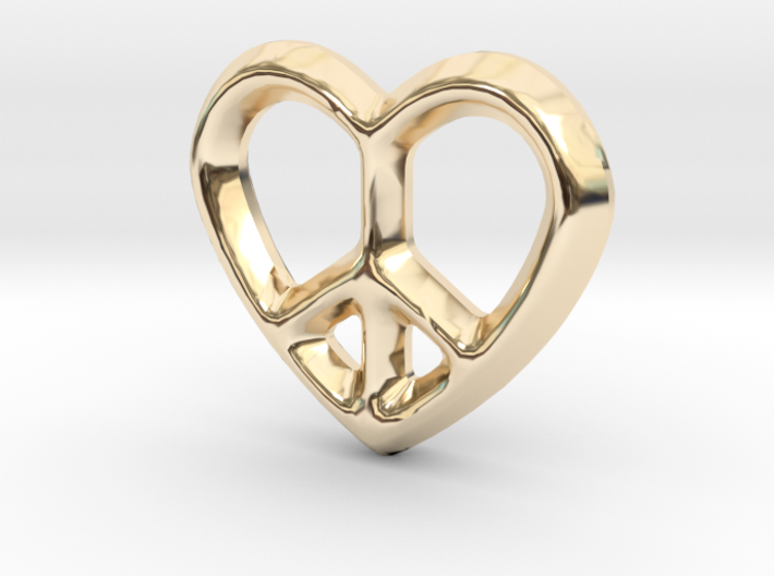 Peace Love Charm - 11mm 3d printed