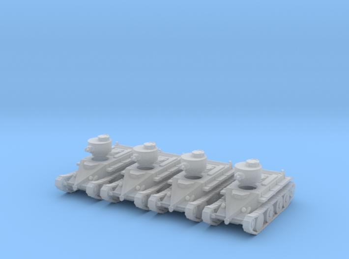 1/160 Christie T3 tank 3d printed