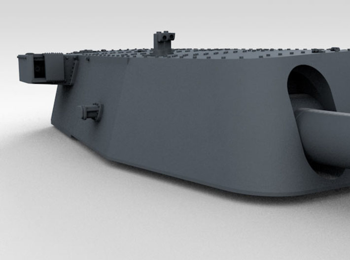 """1/350 16""""/45 MKI HMS Nelson Turrets 1945 3d printed 3d render showing A Turret detail"""