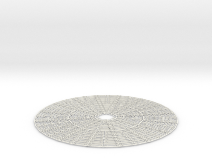 Hoop Pendant / Circle Ring Expandable Structure 3d printed