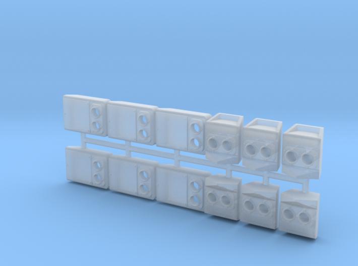 SP Rebuild Pack Flat Back (HO - 1:87)(6X) 3d printed