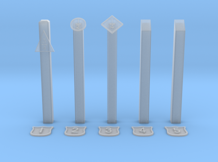 EP722 NSR Mileposts 3d printed