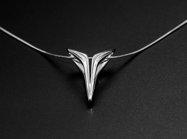YOUNIVERSAL FREE, Pendant. Sharp Chic 3d printed