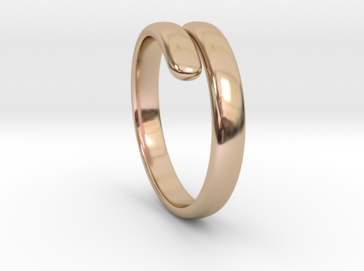 two becomes one / wedding ring 3d printed