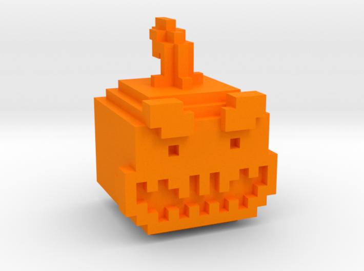 Pixel Pumpkin Head 3d printed
