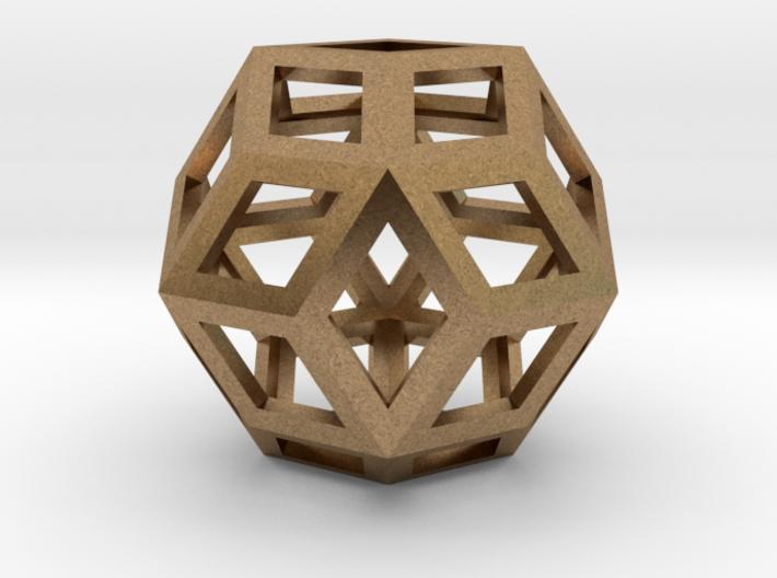 Rhombic Triacontahedron Precious Metals 3d printed