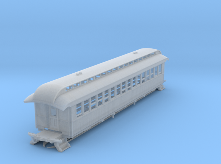 Wood Passenger Car 1885 S Scale 1/64 3d printed