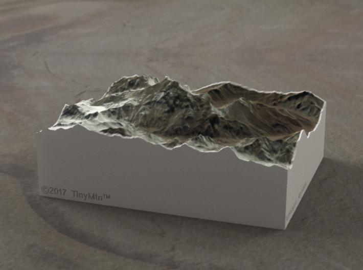 Aconcagua, Argentina, 1:150000 Explorer 3d printed