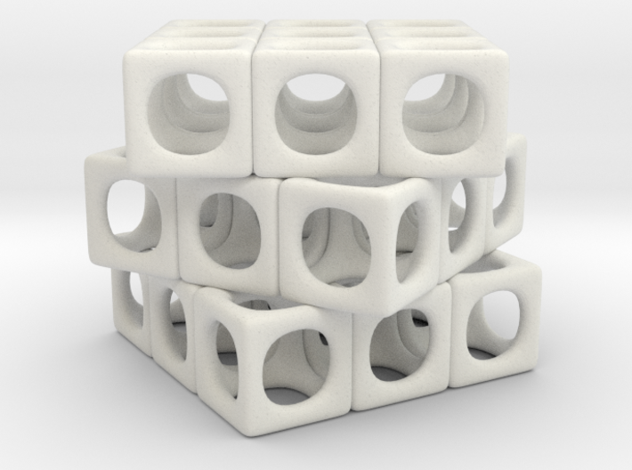 Rounded Cube 3d printed
