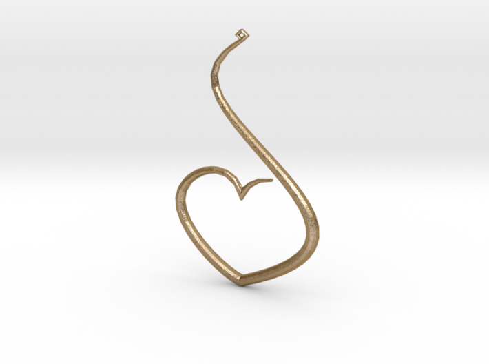 Love Heart Pendant 3d printed