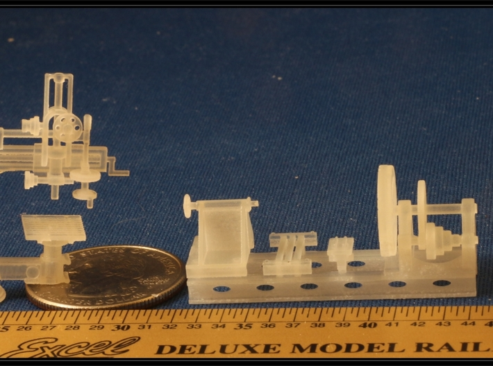 Large Metal Working Machines in HO Scale 3d printed