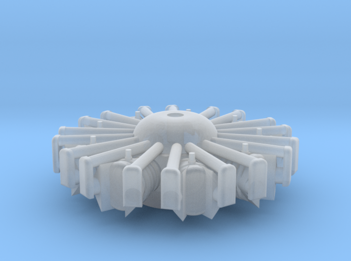 1:72 PW R-1340 Wasp Engine 3d printed