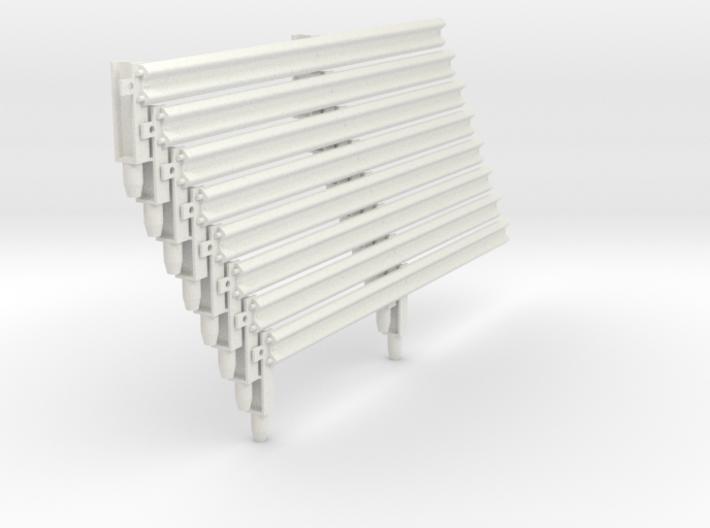 Armco Rail on 2 I-Beam Posts, 8 pcs 3d printed