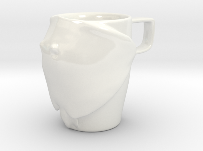 Happy Stingray Mug 3d printed