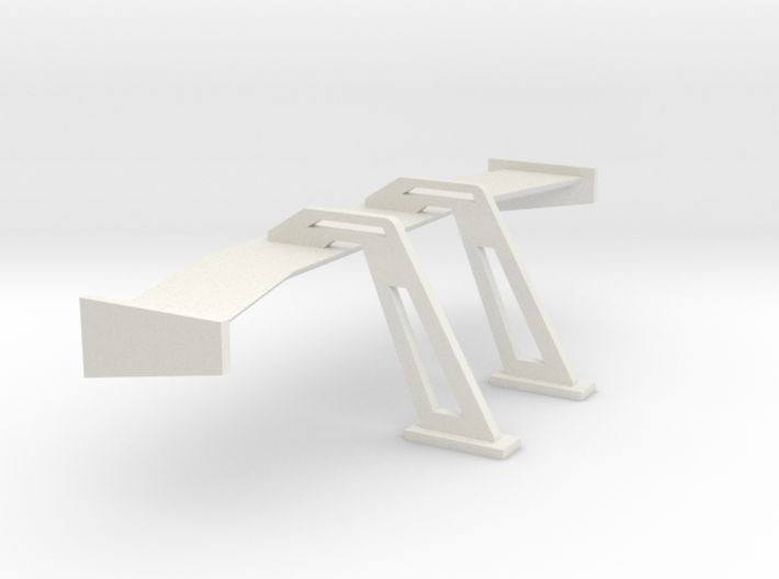1/24 1/25 Swan Neck Wing 3d printed