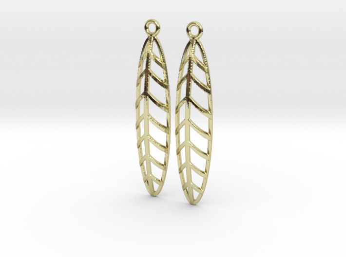 Feather - Earring 3d printed