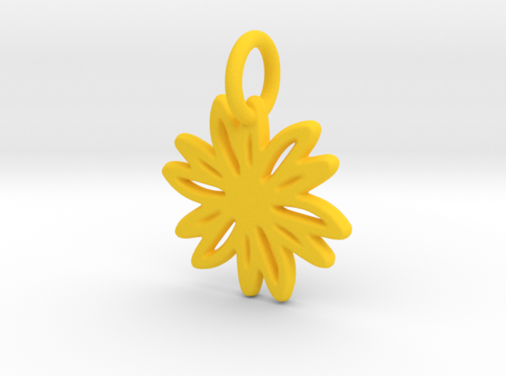Daisy Pendant/Charm - 24mm, 20mm, 16mm, 12mm 3d printed