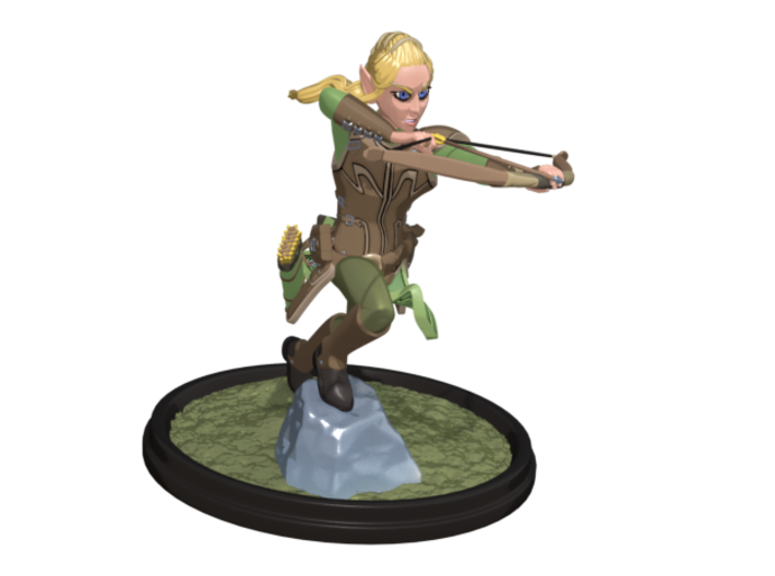 Nylia Statue 3d printed Colored render of the 3d model.