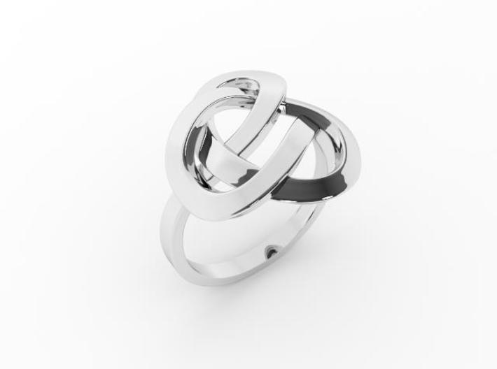 Infinity Love Ring (From $13) 3d printed Silver Ring Celtic