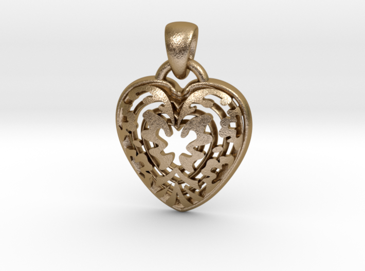 ButterFly Heart Pendant 3d printed