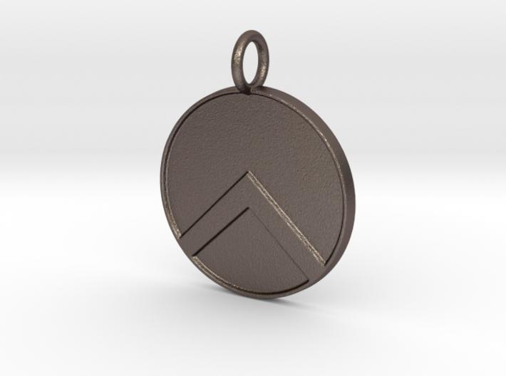 Spartan shield Pendant 3d printed