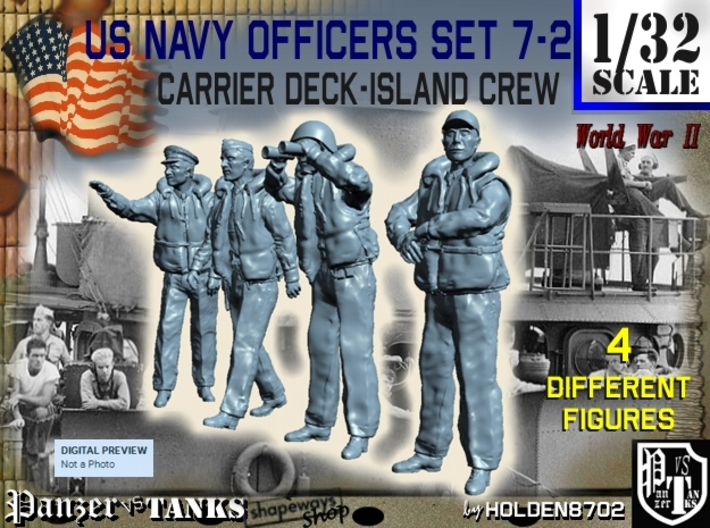 1-32 USN Officers Carrier Island Set7-2 3d printed