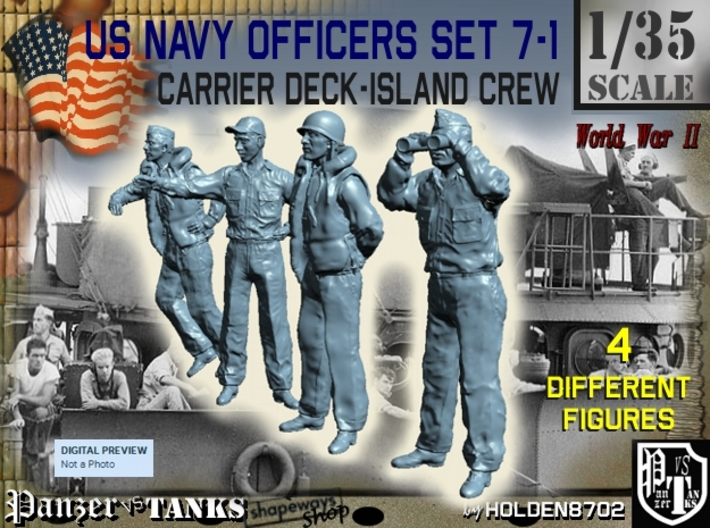 1-35 USN Officers Carrier Island Set7-1 3d printed