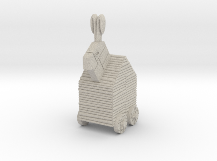 Trojan Rabbit Dice Tower (No Louvres) 3d printed