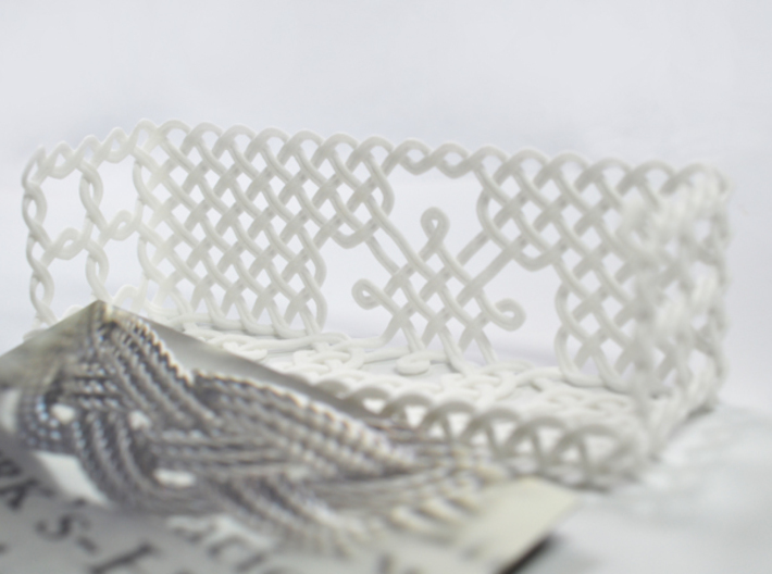 Woven Business Card Holder 3d printed