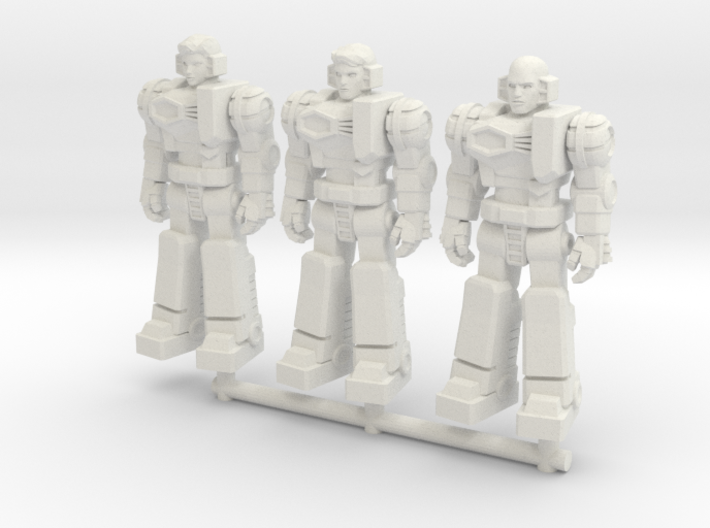 Diaclone Pilot Squad, at attention 35mm Mini 3d printed